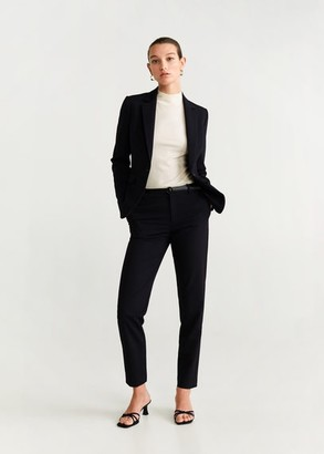 MANGO Essential structured blazer dark navy - 1 - Women
