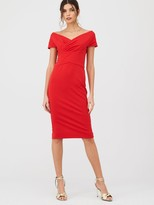 Very Ruched Front Pencil Dress