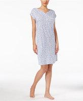 Miss Elaine Floral-Print Short Nightgown