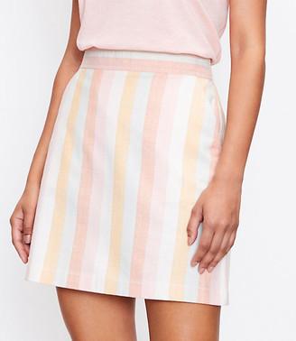 LOFT Striped Pocket Shift Skirt