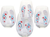 Certified International In The Moment Set of 4 Stemless Wine Glasses