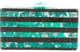 Edie Parker Glitter-Embellished Resin Clutch