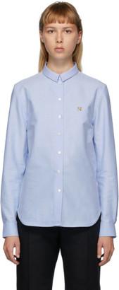 MAISON KITSUNÉ Blue Fox Head Oxford Shirt
