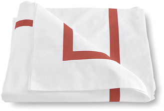 Matouk Lowell Duvet Cover - Coral Twin