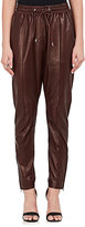 Givenchy WOMEN'S LEATHER DRAWSTRING TRACK PANTS