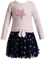 Youngland Toddler Girl Star Tie Front Tutu Skirt Sweater Dress