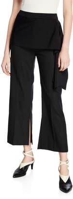 3.1 Phillip Lim Draped Side-Tie Cropped Pants