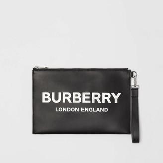 Burberry Logo Print Zip Pouch