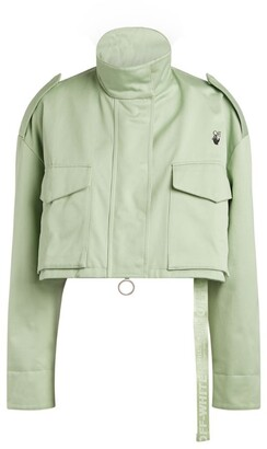 Off-White Floral Arrows Cropped Jacket