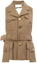 Maison Margiela military style waistcoat jacket - women - Wool - 40