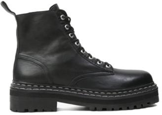 Black Suede Studio Drea Combat Boot Black