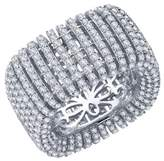 Lafonn Platinum Over Sterling Silver Simulated Diamond Micro Pave Wide Band Ring