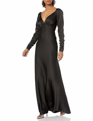 Keepsake Women's Sleeve Plunging Long Gown Dress