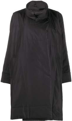 Pleats Please Issey Miyake oversized funnel-neck coat