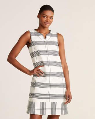 Piazza Sempione Striped Split V-Neck Tank Dress