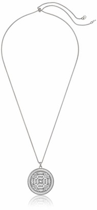 Lucky Brand Women's Silver Open Work Circular Pendant Necklace One Size