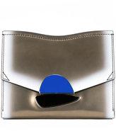 Proenza Schouler metallic clutch bag