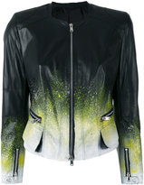 Sylvie Schimmel ink splatter jacket - women - Lamb Skin - 36