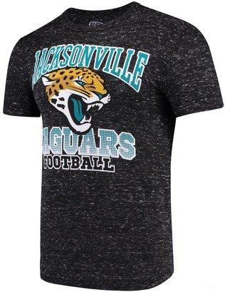 Men's G-III Sports by Carl Banks Black Jacksonville Jaguars Outfield Speckle T-Shirt