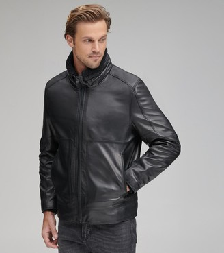 Andrew Marc   Final Sale Trail Master Leather Motorcycle Jacket