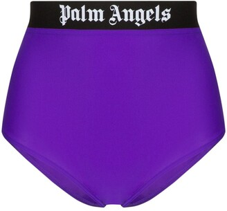 Palm Angels Logo-Print Bikini Bottoms