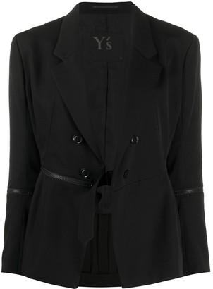 Yohji Yamamoto deep V-neck blazer