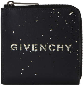 Givenchy Stencil Square Zipped Wallet Black