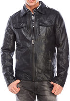Lucky Brand Faux Leather Padded Jacket