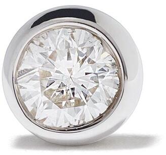 Maria Black 14kt white gold Mega Dot diamond stud