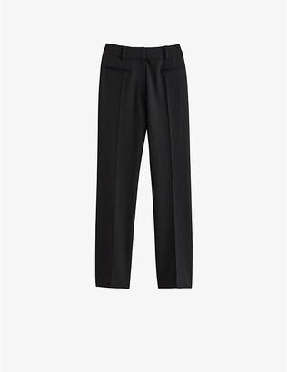 Claudie Pierlot Patel mid-rise cotton-blend trousers