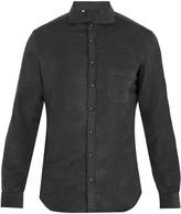 THOM SWEENEY Cutaway-collar single-cuff cotton-corduroy shirt
