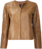 TOMORROWLAND fitted leather jacket