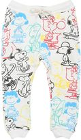 Finger In The Nose Snoopy Printed Cotton Jogging Pants