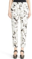 Max Mara Women's Minorca Print Stretch Cotton Ankle Pants