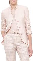 Akris Single-Breasted Mock-Neck Jacket, Flamingo
