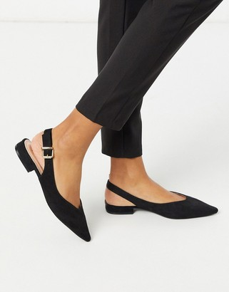Raid Avril sling back flat shoes in black