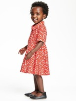 Old Navy Fit & Flare Rolled-Sleeve Dress for Toddler