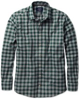 Charles Tyrwhitt Extra slim fit green check heather shirt