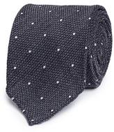 Drakes Drake ' S Polka dot wool-silk tie