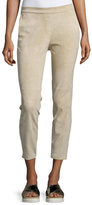 Theory Thaniel Stretch Suede Cropped Pants