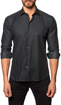 Jared Lang Printed Long Sleeve Trim Fit Shirt
