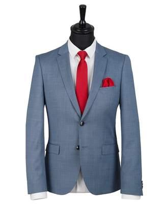 HUGO Arti 82 Textured Weave Jacket Colour: BLUE, Size: 38