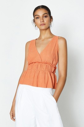 Coast Sleeveless V-Neck Shirred Waist Top