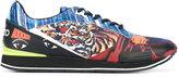 Kenzo K-Run sneakers - men - Cotton/Calf Leather/Polyamide/rubber - 39