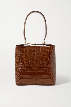 REJINA PYO Lucie Croc-effect Leather Shoulder Bag - Brown