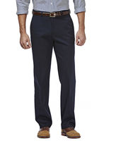 Haggar Premium No Iron Classic-Fit Flat-Front Khakis