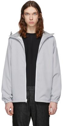 Minotaur Grey and Black Translucent Hooded Jacket