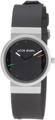 Jacob Jensen Womens Analogue Quartz Watch with Rubber Strap 742