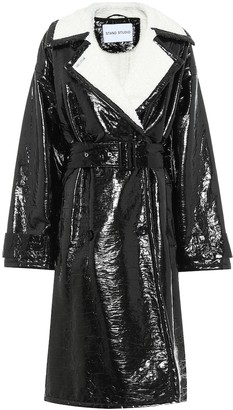 Stand Studio Erica patent faux leather coat