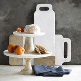 Williams-Sonoma Williams Sonoma White Marble Stand, Round